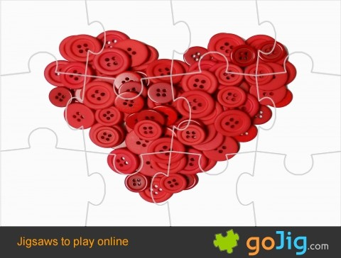 Jigsaw : Heart of Buttons