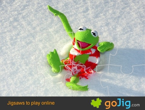 Jigsaw : Kermit in the Snow