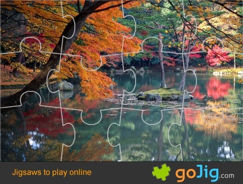 Jigsaw : Autumn in Kyoto, Japan