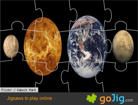 Jigsaw : Mercury, Venus, Earth & Mars