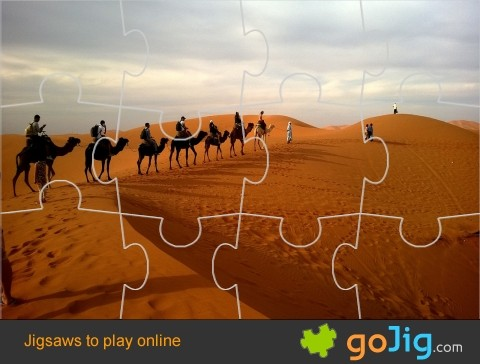 Jigsaw : Camels in the Desert
