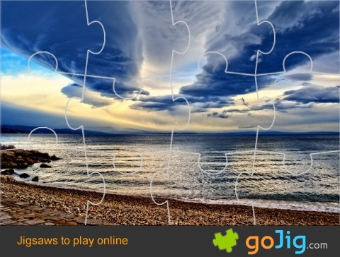 Jigsaw : Atmospheric Sky Over Water