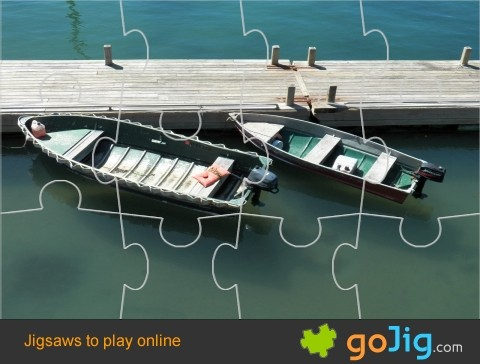 Jigsaw : Two Boats Docked