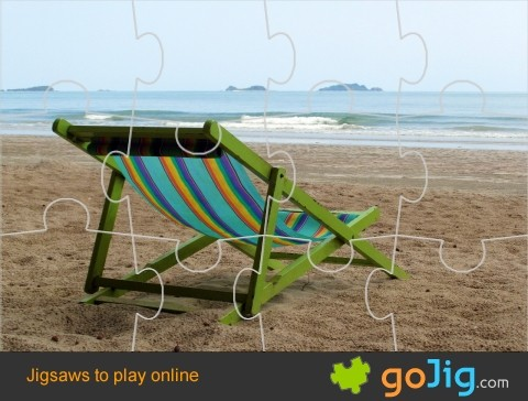Jigsaw : Deckchair On An Empty Beach